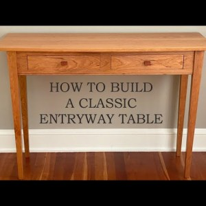 How to Build an Entryway Table - Make Drawers & Drawer Pulls