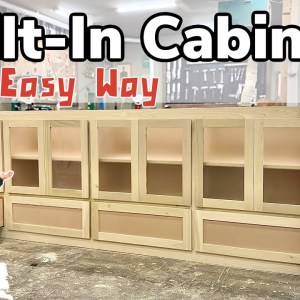 How To Make a Giant Built-In Cabinet || Built-In Cabinet Tutorial