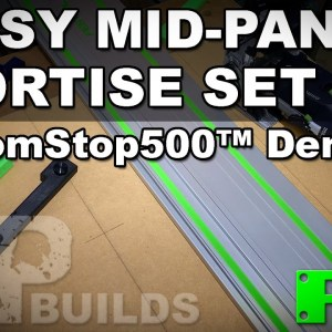Easy Mid-Panel Mortise Set Up | DomStop500 Demo -  A Festool Domino Jig | RAB Tools