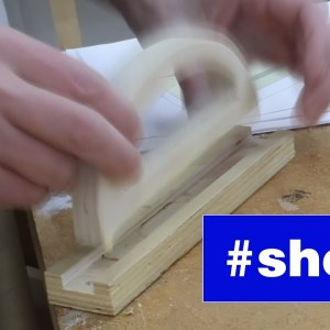 Making a table saw push block.  #shorts