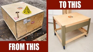Making An Assembly Table From A Shipping Crate - Woodworking