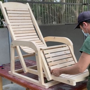 Inspiring  Wood Project Ideas For Your Home // Relaxing Armchair In The Garden -  Sun Loungers