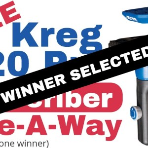 Subscriber Give-A-Way WINNER (Kreg 520 Pro)