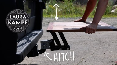 Very Clever Camping Table (without legs!)