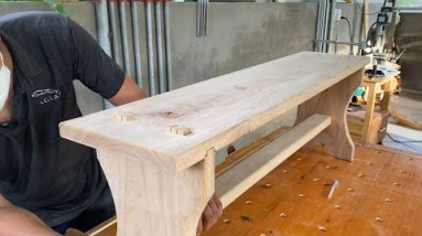 Free Bench Plans For The Beginner And Beyond // How To Build A Log Bench Without Nails, Screws
