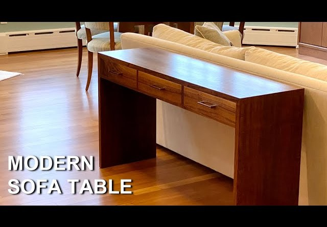 How to build This Modern Sofa Table - Start to Finish