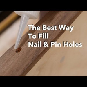 My Favorite Way to Fill Nail Holes, Looks & Works Great / Woodworking Tip!