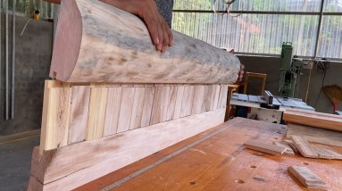 Creative Woodworking Ideas From Waste Wood //DIY Garden Bench Plans You Can Build to Enjoy Your Yard