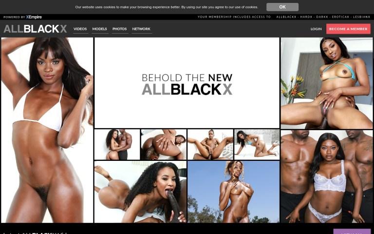 AllBlackX - Best Premium Black XXX Sites