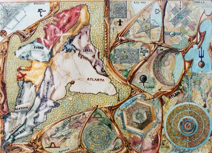 Form der atlantischen Städte