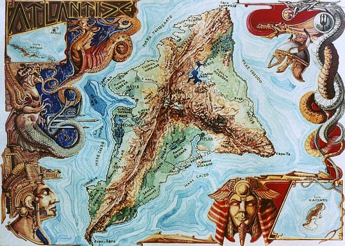 Landkarte von Atlantis