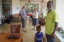 Ringo med sønnen Hekima, mamma og jeg på besøk hos David og Judi