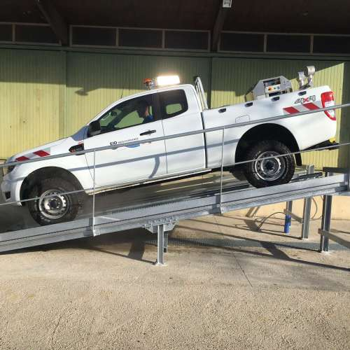 aire de lavage de véhicule - EID Méditerranée - réalisation BET SAI