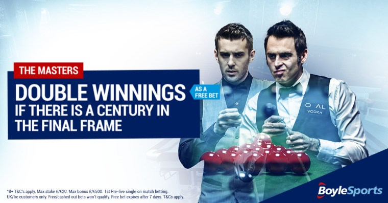 Snooker bet on Masters 2018