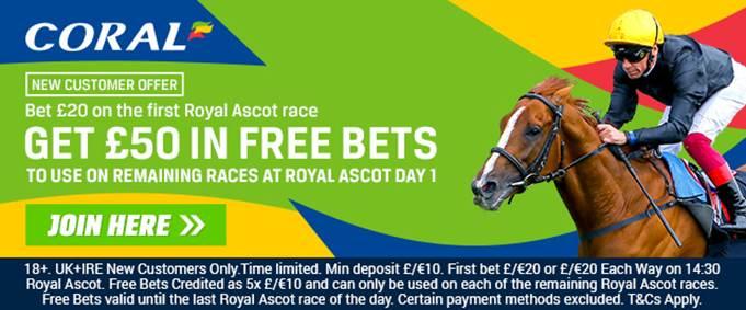 Royal Ascot Free Bets at Coral