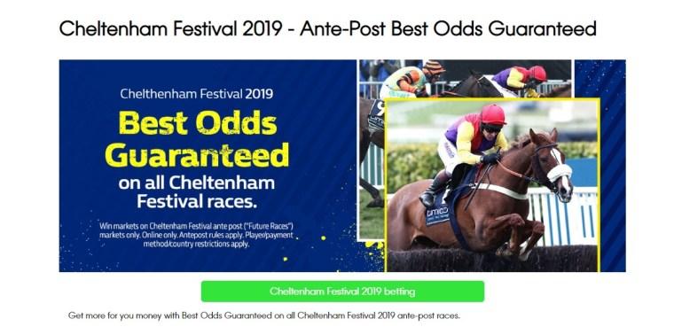 William Hill Cheltenham Offers Best odds Guaranteed