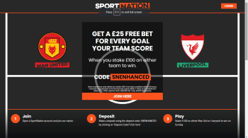 Man Utd or Liverpool £25 Free Bet Offer