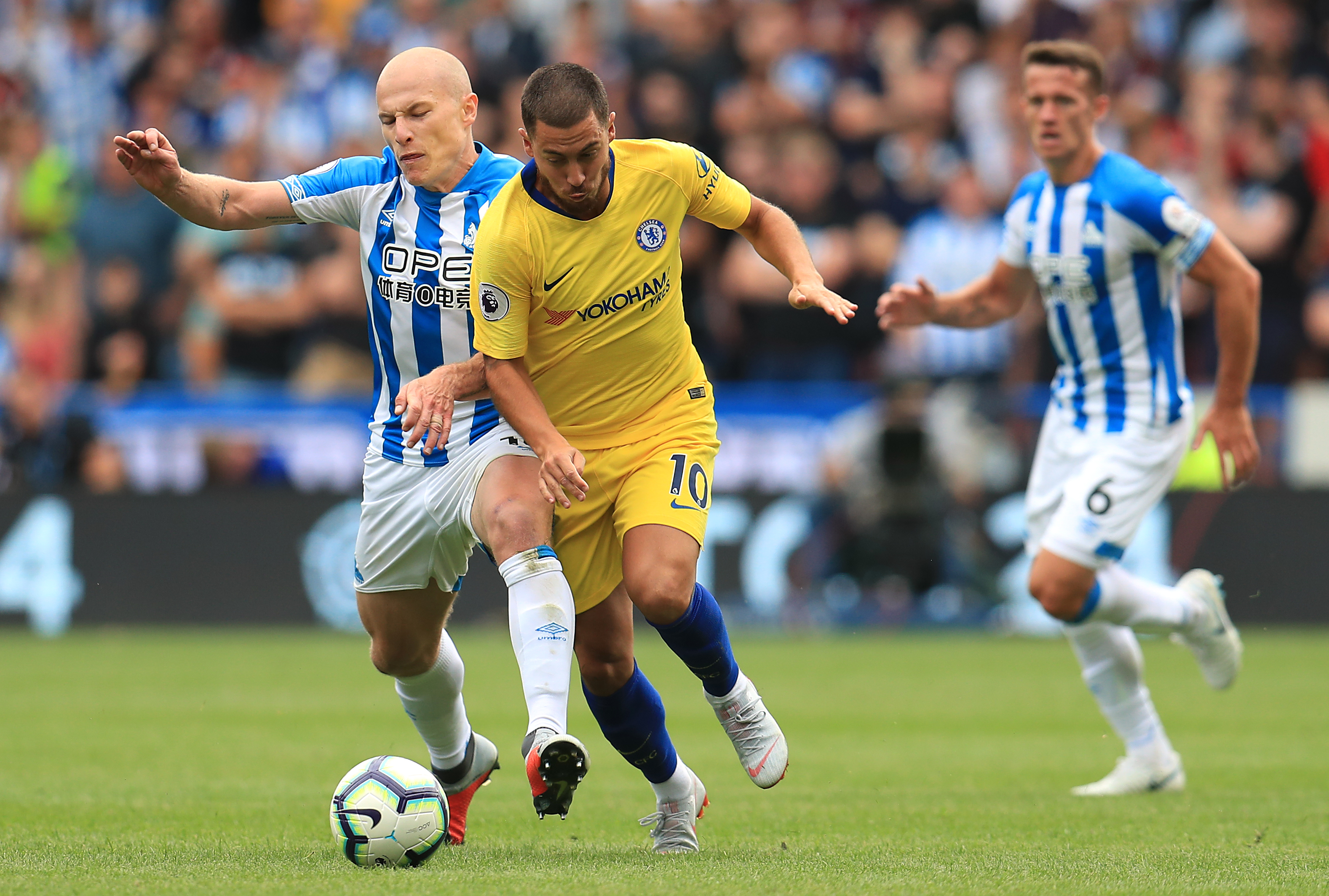 Hazard in action for Chelsea. Image: PA