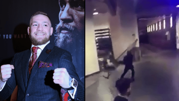 Image result for conor mcgregor throwing at the bus