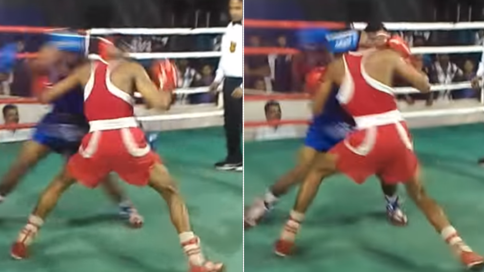 Boxing Fight In India Ends With The Most Incredible 'Double Knockout'