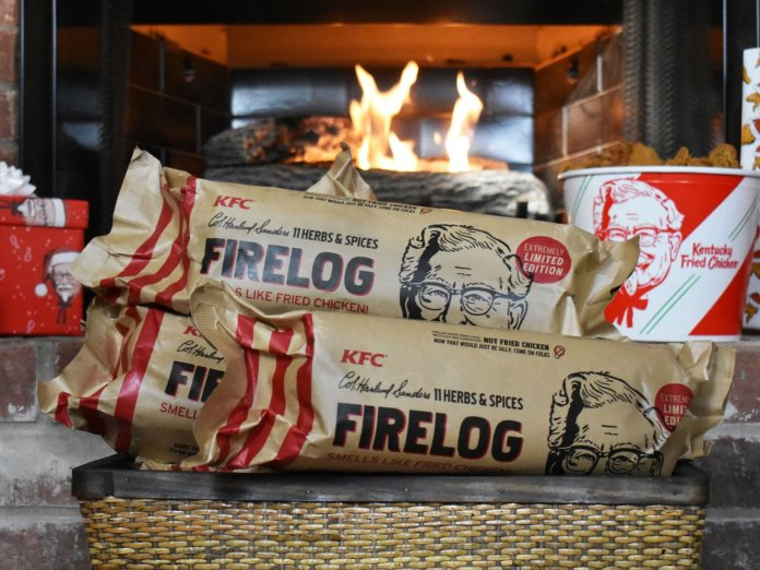 The KFC log is available to buy online in the States. Credit: KFC