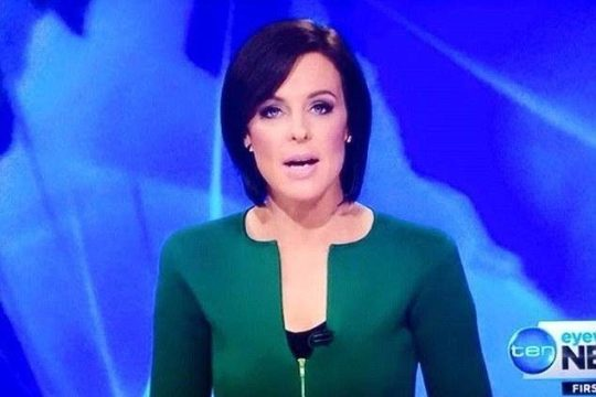 Natarsha Belling also wore the 'penis jacket' a few years back. Credit: Network 10