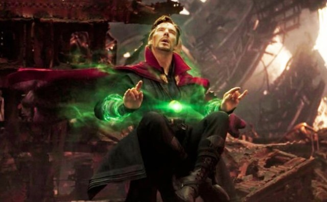 Dr Strange ponders the fate of the universe in Avengers: Infinity War. Credit: Marvel