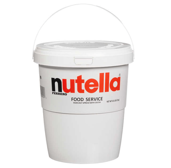 Buckets of Nutella. Credit: Costco