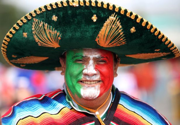 A Mexico fan over in Russia. Image: PA