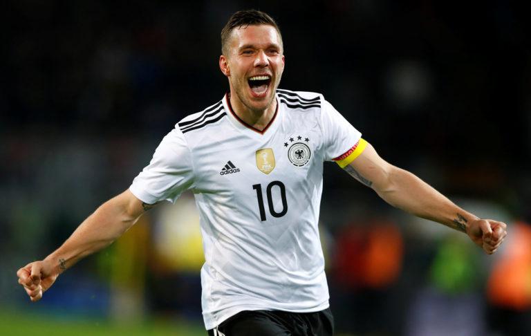 Lukas Podolski's farewell stunner for Germany sinks new-look England