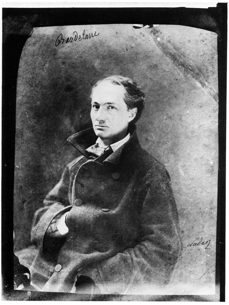 Baudelaire, fotografía de Nadar.
