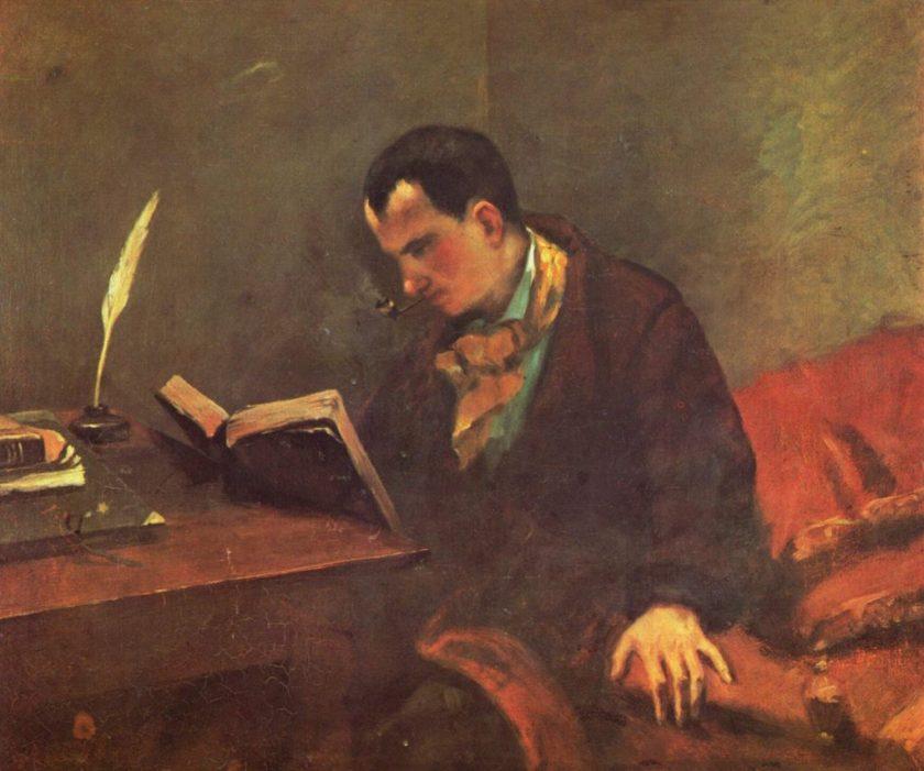 Retrato de Baudelaire, por Gustave Courbet.