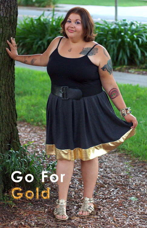 Gold trimmed skirt
