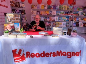 ReadersMagnet books on display during the recently held 2019 LA Times Festival of Books.