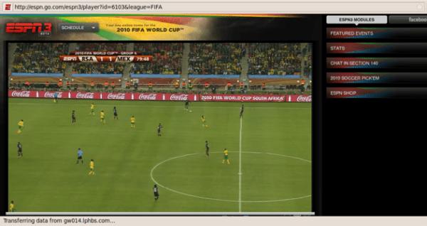 Kudos to ESPN's World Cup live stream – TechCrunch