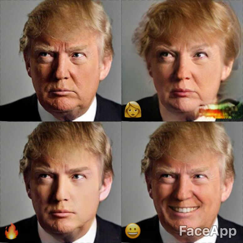 Image result for #faceapp donald trump