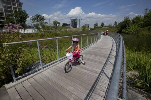 Corktown Common, a Toronto park that also provides flood protection, is a good example of flexible planning that allows