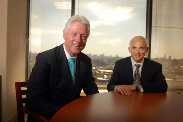 Bill Clinton, left, and Frank Giustra, in 2007.