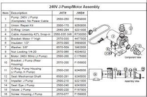 JACUZZI SPA PUMP, 240 VOLTS, 1 HP, 1 SPEED, J PUMP | The Spa Works