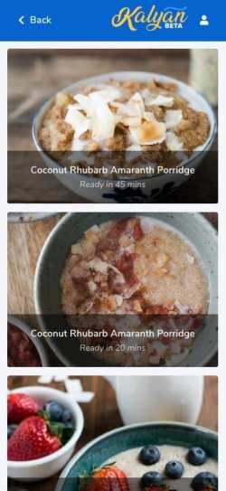 Find Recipes - Kalyan App - Stress-Free Food Allergy Management