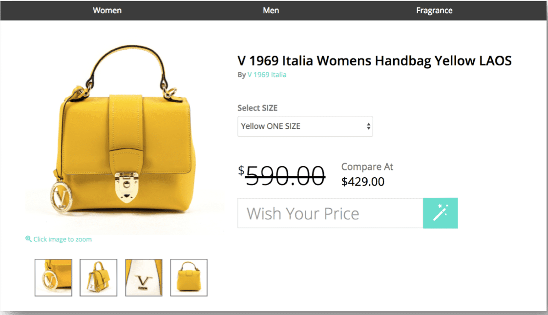 WishYourPrice -- Name Your Price on Any Online Retail Item
