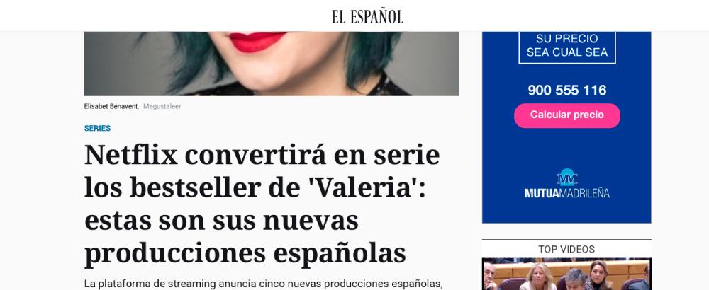 Netflix convertirá en serie los bestseller de 'Valeria': estas son sus nuevas producciones españolas