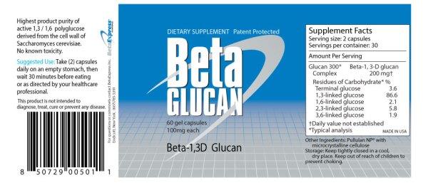 beta glucan 100mg betaexpress pills - Beta 1,3 - 1,6 Glucan - 1 bottle 60 Capsules (100 mg each)