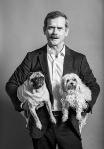 Cmdr. Hadfield with Albert and Jack.