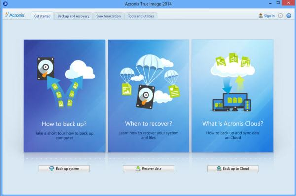 Acronis True Image 2014 fully integrates online backup ...