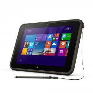 HP Pro Tablet 10 EE Left with pen