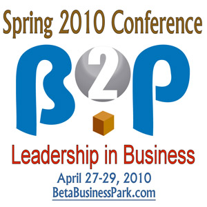 Beta Business Park 2010 Spring Conference Poster