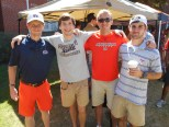 There were a few Mississippi State BYX brothers and pledges that came to Auburn for the match-up, and the brothers joined together for the tailgate.