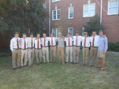 The new Omega Chapter pledges came out looking sharp for game day. The men are a strong bunch that have gotten to know each other through the first pledge retreat and the many challenges they've been through together.