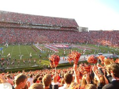 Auburn's football stadium was a happening place for the SEC match-up, and I was able to be there for their patriotic game.